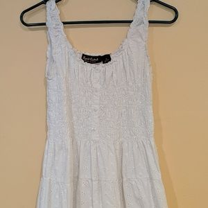Eyelet White Summer Dress